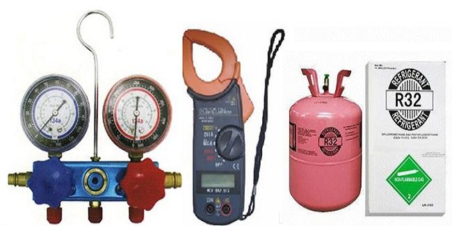 Các dụng cụ cần thiết khi nạp ga máy lạnh